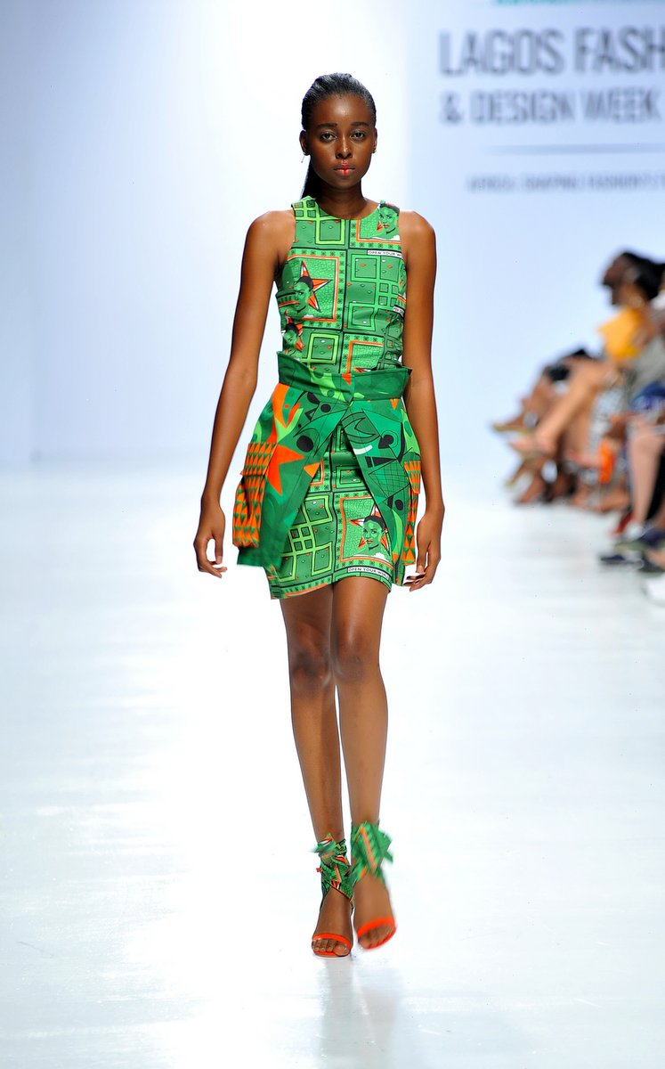 Model wearing a piece from the Africa Inspired Fashion by Heineken at the Heineken Lagos Fashion And Design Week 2017 008