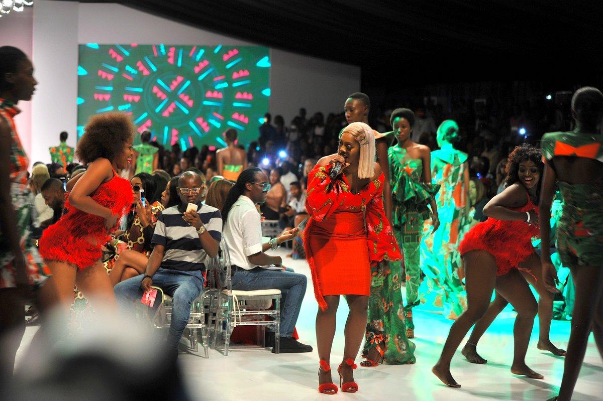 Tiwa Savage performing during the final day of the Heineken Lagos Fashion And Design Week 2017